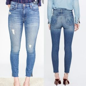 Mother The Vamp Fray Natural Born Trouble Jeans
